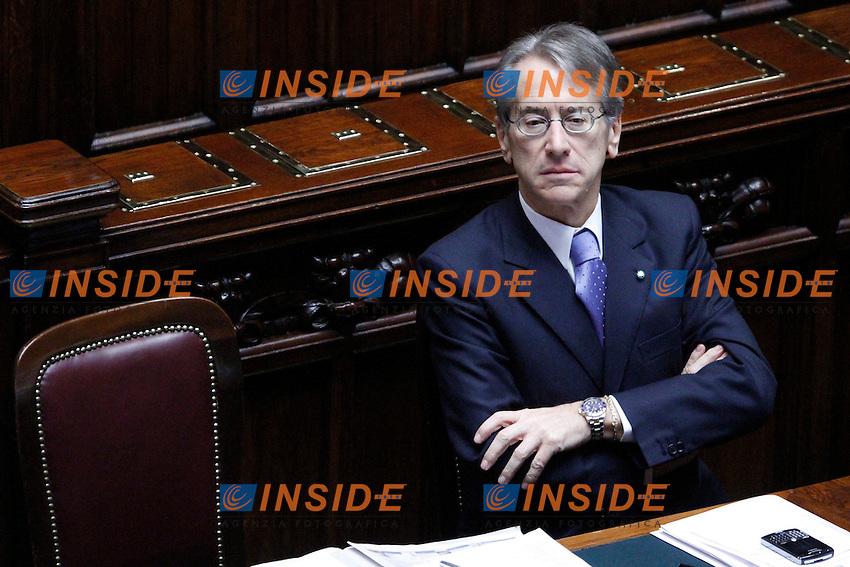 COMUNICAZIONI DEL NEO  PRESIDENTE DEL CONSIGLIO E VOTO DI FIDUCIA PER IL NUOVO GOVERNO..NELLA FOTO IL MINISTRO DEGLI ESTERI GIULIO TERZI DI SANTAGATA ..ROMA 18 NOVEMBRE  2011..PHOTO  SERENA CREMASCHI INSIDEFOTO..........................