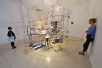 55th Art Biennale in Venice - The Encyclopedic Palace (Il Palazzo Enciclopedico).<br /> Giardini. U.S.A. Pavilion.<br /> Sarah Sze (U.S.A.), &quot;Triple Point&quot;, 2013.