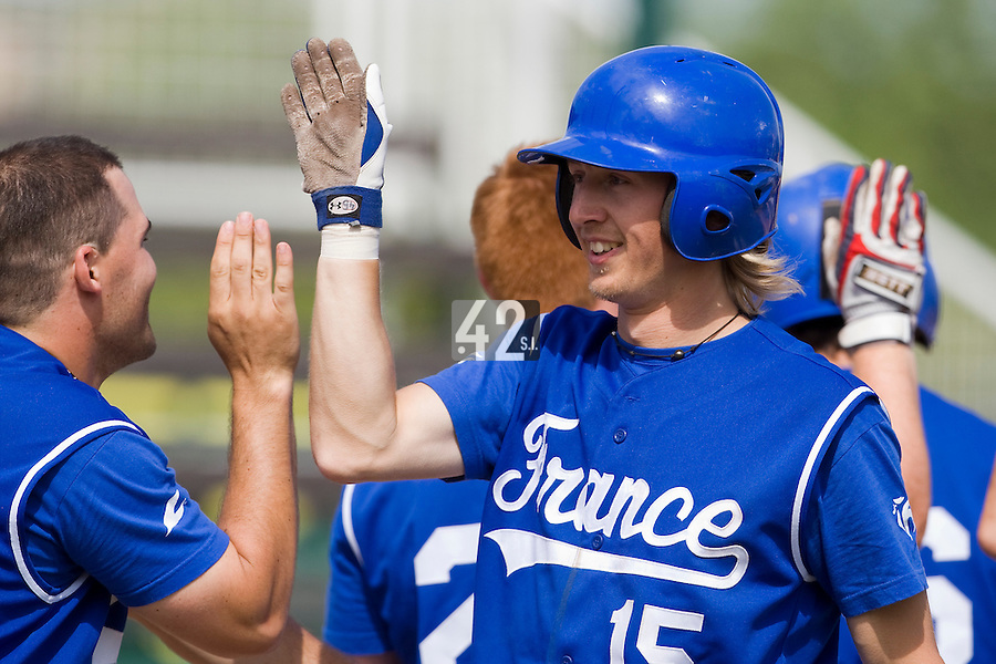 BASEBALL - GREEN ROLLER PARK - PRAGUE (CZECH REPUBLIC) - 27/06/2008 - PHOTO: CHRISTOPHE ELISE.LUC PIQUET (TEAM FRANCE)