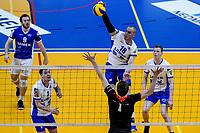 GRONINGEN - Volleybal , Lycurgus - Taurus, kampioenspoule, seizoen 2018-2019, 13-04-2019, s,ach Lycurgus speler Dennis Borst