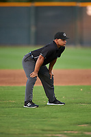 Umpire Sam Clark during an Arizona League game between the AZL Angels and AZL D-backs on July 20, 2019 at Salt River Fields at Talking Stick in Scottsdale, Arizona. The AZL Angels defeated the AZL D-backs 11-4. (Zachary Lucy/Four Seam Images)