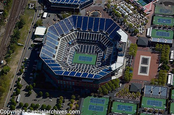 aerial photograph New York Tennis Center Queens, New York City