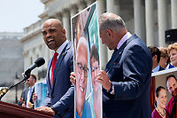 United States Representative Colin Allred (Democrat of Texas) speaks during a press conference on Capitol Hill in Washington D.C., U.S. to discuss health care coverage for those with pre-existing conditions on July 9, 2019.<br /> CAP/MPI/RS<br /> ©RS/MPI/Capital Pictures