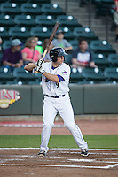 Ryan Leonards (9) of the Winston-Salem Dash at bat against the Myrtle Beach Pelicans at BB&T Ballpark on April 18, 2016 in Winston-Salem, North Carolina.  The Pelicans defeated the Dash 6-4.  (Brian Westerholt/Four Seam Images)