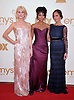 """RACHAEL TAYLOR, ANNIE ILLONZEH AND MINKA KELLY.attends the Academy of Television Arts & Sciences 63rd Primetime Emmy Awards at Nokia Theatre L.A. Live, Los Angeles_18/09/2011.Mandatory Photo Credit: ©Crosby/Newspix International. .**ALL FEES PAYABLE TO: """"NEWSPIX INTERNATIONAL""""**..PHOTO CREDIT MANDATORY!!: NEWSPIX INTERNATIONAL(Failure to credit will incur a surcharge of 100% of reproduction fees).IMMEDIATE CONFIRMATION OF USAGE REQUIRED:.Newspix International, 31 Chinnery Hill, Bishop's Stortford, ENGLAND CM23 3PS.Tel:+441279 324672  ; Fax: +441279656877.Mobile:  0777568 1153.e-mail: info@newspixinternational.co.uk"""