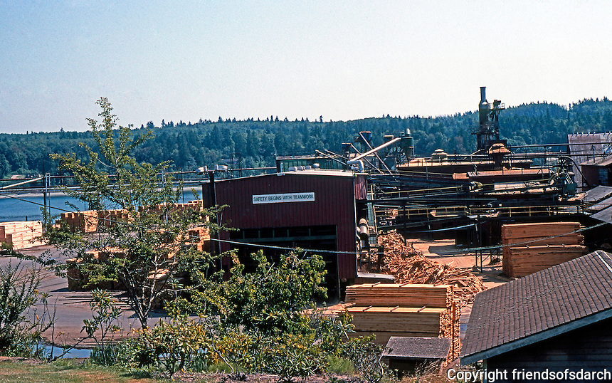 Port Gamble, WA: Founded in 1853 by A.V. Pope & Capt. Wm. C. Talbot (Pope & Talbot Inc. still owns and maintains the town and mill. It is the oldest sawmill operation in No. America.)