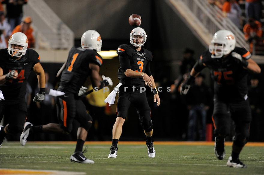 Brandon Weeden(3) / Oklahoma State Cowboys,OKLAHOMA STATE, BRANDON WEEDEN