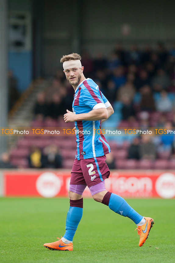 Scott Wiseman of Scunthorpe Utd<br /> during Scunthorpe United vs Shrewsbury Town, Sky Bet League 1 Football at Glanford Park, Scunthorpe, England on 17/10/2015