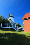 View of Owls Head Light, Owls Head, Maine, USA