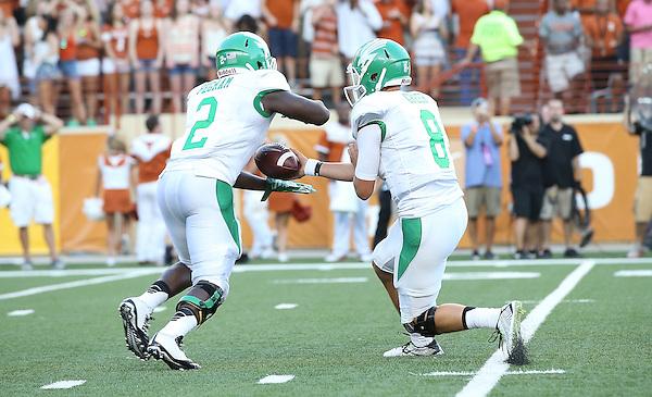 DENTON, TX - AUGUST 30 :  - North Texas Mean Green Football vs University of Texas at theDarrell K Royal Texas Memorial Stadium in Denton on August 30, 2014 in Denton, Texas.  (Photo by Rick Yeatts)