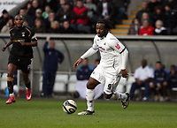 Pictured: Jason Scotland of Swansea City in action<br /> Re: Coca Cola Championship, Swansea City FC v Coventry City at the Liberty Stadium. Swansea, south Wales, Friday 26 December 2008.<br /> Picture by D Legakis Photography / Athena Picture Agency, Swansea 07815441513