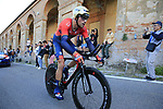 Antonio Nibali (ITA) Bahrain-Merida on the San Luca climb during Stage 1 of the 2019 Giro d'Italia, an individual time trial running 8km from Bologna to the Sanctuary of San Luca, Bologna, Italy. 11th May 2019.<br /> Picture: Eoin Clarke | Cyclefile<br /> <br /> All photos usage must carry mandatory copyright credit (© Cyclefile | Eoin Clarke)