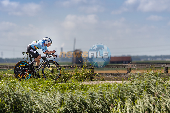 Remco Evenepoel (BEL) on his way to winning the 2019 ITT Elite Men European Championships, 8th August 2019. Photo by Thomas van Bracht / PelotonPhotos.com | All photos usage must carry mandatory copyright credit (Peloton Photos | Thomas van Bracht)