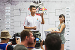 Players attend lucky draw prior to Red Bull Taiwan King of the Rock World Final 2014 on September 05, 2014 at at Naruwan hotel in Taitung City, Taiwan. Photo by Xaume Olleros / Power Sport Images