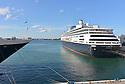FORT LAUDERDALE, FL - April 02: Zaandam and Rotterdam cruise ships arrive at Port Everglade on April 02, 2020 in Fort lauderdale, Florida. The Holland America cruise line ship had been at sea for the past 19 days after South American ports denied their entry due to the Coronavirus outbreak. Reports indicated that two of four people that died aboard the Zaandam had tested positive for COVID-19. Those passengers that are fit for travel in accordance with guidelines from the U.S. Centers for Disease Control will be permitted to disembark.   ( Photo by Johnny Louis / jlnphotography.com )