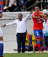 IPIALES - COLOMBIA, 23-03-2019: Alexis García, técnico de Deportivo Pasto durante partido entre Deportivo Pasto y Millonarios, de la fecha 11 por la Liga Águila I 2019, jugado en el estadio Municipal de Ipiales. / Alexis García, coach of Deportivo Pasto during a match between Deportivo Pasto and Millonarios, of the 11th date for the Aguila Leguaje I 2019 at the Municipal de Ipiales stadium in Ipiales city. Photo: VizzorImage. / Leonardo Castro / Cont.