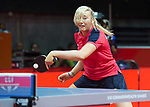 Wales Charlotte Carey in action during her singles match <br /> <br /> *This image must be credited to Ian Cook Sportingwales and can only be used in conjunction with this event only*<br /> <br /> 21st Commonwealth Games - Table tennis -  Day 2 - 06\04\2018 - Oxenford - Gold Coast City - Australia