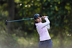 Vani Kapoor of India tees off during the first round of the EFG Hong Kong Ladies Open at the Hong Kong Golf Club Old Course on May 11, 2018 in Hong Kong. Photo by Marcio Rodrigo Machado / Power Sport Images