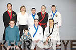 SCHOOL: Students from the school of Hannyoodo School who were presented with their belts at a ceremony in Cumann Iosaef, Tralee on Saturday. Front l-r: Bren dan O'Connell, Richard Horgan, Bryan Scannell and Insean Hwang. Back l-r: Antti Huvskonen, Maja Noszczyk,Mick O'Connell and Kimmo Pollari............. ....