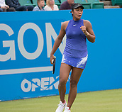 June 10th 2017,  Nottingham, England; WTA Aegon Nottingham Open Tennis Tournament day 1; Fist pump from Destanee Aiava of Australia as she wins the final point to secure victory over Laura Deigman of Great Britain in two sets