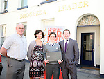 1st Prize Winner Ciarán Brennan of St.Josephs School with Transition Year Coordinator, Mr Kelly, Siobhan Woods from Beverage Business Solutions and Gordan Hatch from the Drogheda Leader at the Presentation of prizes for the Red Hot Writers Course...Photo NEWSFILE/Jenny Matthews.(Photo credit should read Jenny Matthews/NEWSFILE)....This Picture has been sent you under the condtions enclosed by:.Newsfile Ltd..The Studio,.Millmount Abbey,.Drogheda,.Co Meath..Ireland..Tel: +353(0)41-9871240.Fax: +353(0)41-9871260.GSM: +353(0)86-2500958.email: pictures@newsfile.ie.www.newsfile.ie.FTP: 193.120.102.198.