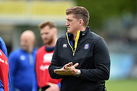 Stuart Hooper of Bath Rugby looks on during the pre-match warm-up. Gallagher Premiership match, between Bath Rugby and Wasps on May 5, 2019 at the Recreation Ground in Bath, England. Photo by: Patrick Khachfe / Onside Images