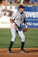 August 17 2008:  Juan Diaz of the Wisconsin Timber Rattlers, Class-A affiliate of the Seattle Mariners, during a game at Philip B. Elfstrom Stadium in Geneva, IL.  Photo by:  Mike Janes/Four Seam Images