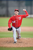 Washington Nationals pitcher Max Engelbrekt (64) during a Minor League Spring Training game against the Miami Marlins on March 28, 2018 at FITTEAM Ballpark of the Palm Beaches in West Palm Beach, Florida.  (Mike Janes/Four Seam Images)