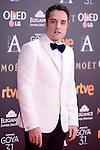 Daniel Guzman attends to the Red Carpet of the Goya Awards 2017 at Madrid Marriott Auditorium Hotel in Madrid, Spain. February 04, 2017. (ALTERPHOTOS/BorjaB.Hojas)