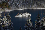 """""""Inspiration""""  I captured this image of Fannette Island located in Emerald Bay, South Lake Tahoe during the winter in December 2012.  The road was closed so I hiked out to Inspiration Point at Emerald Bay on Christmas Eve after a huge snowstorm capturing the island completely covered with fresh snow.  I have a series of four photographs posted that range from a close up of Fannette Island to the wide angle that includes more of Emerald Bay and Lake Tahoe. Winter Tea Castle, Fannette Freshies, Inspiration, and White Christmas."""