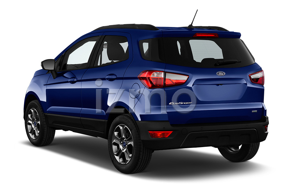 Car pictures of rear three quarter view of a 2018 Ford Ecosport Business Class 5 Door SUV angular rear