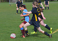 Girls 1st XI football. Kuranui College v Tararua College Sports Exchange at Kuranui College in Greytown, Wairarapa, New Zealand on Friday, 11 August 2017. Photo: Dave Lintott / lintottphoto.co.nz