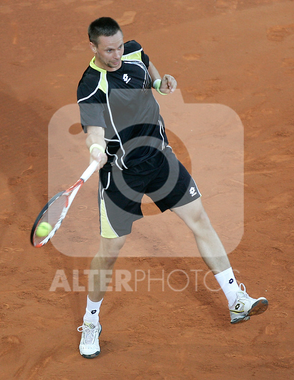 Sweden Robin Soderling during his Madrid Open first round match. May 12, 2009. (ALTERPHOTOS/Alvaro Hernandez)