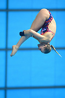 Great Britain's Robyn Birch competes in the women's 10m Platform final <br /> <br /> Photographer Hannah Fountain/CameraSport<br /> <br /> FINA/CNSG Diving World Series 2019 - Day 2 - Saturday 18th May 2019 - London Aquatics Centre - Queen Elizabeth Olympic Park - London<br /> <br /> World Copyright © 2019 CameraSport. All rights reserved. 43 Linden Ave. Countesthorpe. Leicester. England. LE8 5PG - Tel: +44 (0) 116 277 4147 - admin@camerasport.com - www.camerasport.com