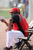 Ken Griffey Sr, minor league manager for the Cincinnati Reds, manages his team in a minor league spring training game against the Arizona Diamondbacks at Salt River Fields on March 15, 2011 in Scottsdale, Arizona. .Photo by:  Bill Mitchell/Four Seam Images.