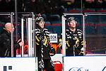 Stockholm 2014-03-21 Ishockey Kvalserien AIK - R&ouml;gle BK :  <br /> AIK:s Fredrik Svensson och AIK:s Jordan Hendry &auml;r utvisade i den tredje perioden<br /> (Foto: Kenta J&ouml;nsson) Nyckelord:  utvisning utvisad utvisas