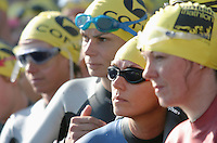 11 AUG 2007 - NOTTINGHAM, UK - Competitors wait to tag - British Club Relay Triathlon Championships. (PHOTO (C) NIGEL FARROW)