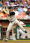 6 June 2007: Pittsburgh Pirates outfielder Xavier Nady in action against the Washington Nationals at RFK Stadium in Washington, DC. The Nationals defeated the Pirates 6-5 in the second game of their 3-game series...Mandatory Credit: Ed Wolfstein Photo