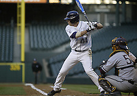 03 April 2009:  Washington's #44 Brett Wilcox sets up in the batters box against Arizona State at Safeco Field in Seattle, WA.  Arizona State won 3-1 over Washington.