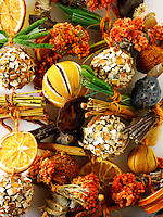 Traditional hand made Christmas decorations