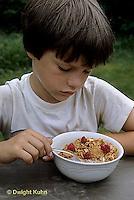 FA07-008z  Taste - boy eating cereal