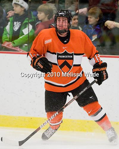 Eric Meland (Princeton - 16) - The Princeton University Tigers defeated the Harvard University Crimson 2-1 on Friday, January 29, 2010, at Bright Hockey Center in Cambridge, Massachusetts.