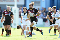 Mike Ellery of Saracens goes on the attack. Pre-season friendly match, between Bedford Blues and Saracens on August 19, 2017 at Goldington Road in Bedford, England. Photo by: Patrick Khachfe / Onside Images