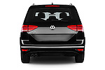 Straight rear view of 2016 Volkswagen Touran Highline 5 Door Mini Mpv Rear View  stock images