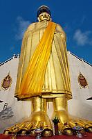 "Giant standing Buddha ""Luang Pho To"" Wat Intharawihan, Bangkok, Thailand"