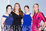 Tralee Rugby club stars at the Kerry Sports awards in the Gleneagle Hotel on Friday night l-r: Shauna Lynch, Nuala O'Connor, Donna McGover and Siobhan Fleming