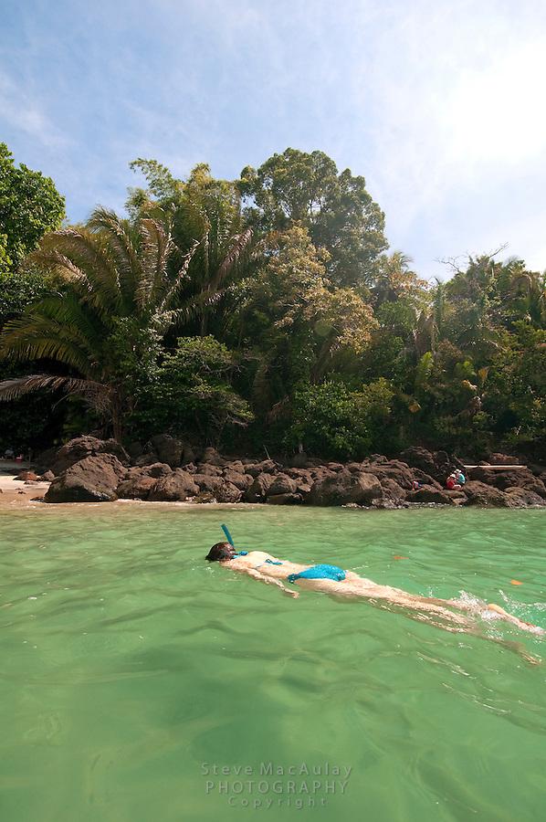 Snorkeling at Manuel Antonio National Park, Costa Rica
