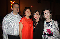 NWA Democrat-Gazette/CARIN SCHOPPMEYER James and Angie Graves (from left), Lori Fink and Meredith Lowry enjoy Ooh! la, la! on Feb. 9 at the Garden Room in Fayetteville.