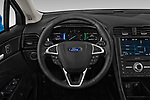 Car pictures of steering wheel view of a 2019 Ford Fusion-Hybrid Titanium  4 Door Sedan
