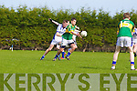 Jack Savage of Tralee CBS shakes off Conor Clancy of St Flannan's  in the Frewen Cup Final held last Wednesday in Croagh, Co. Limerick. ..